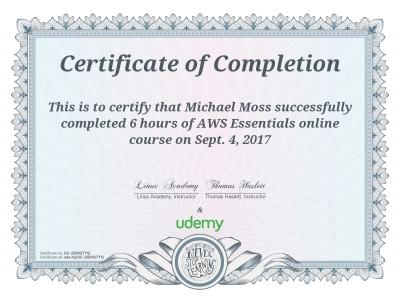 AWS Essentials Certificate