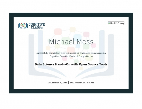 Data Science Hands-On with Open Source Tools