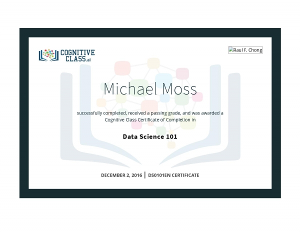 Data Science 101 Certificate