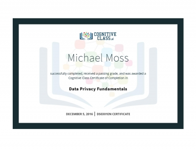 Data Privacy Fundamentals Certificate