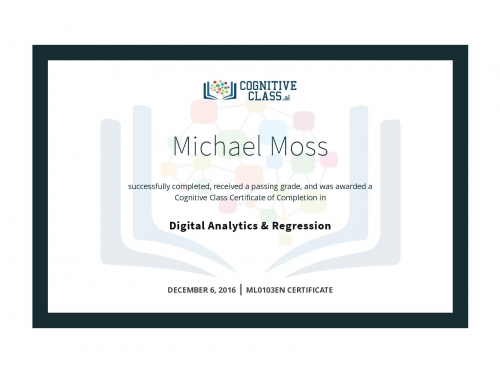 Digital Analytics & Regression