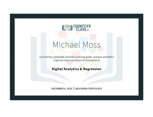 Digital Analytics & Regression