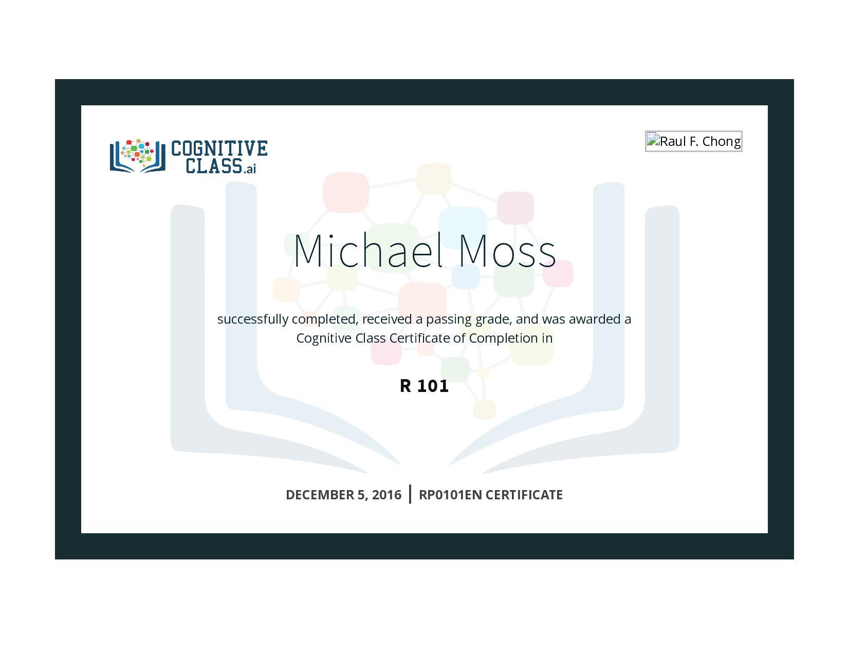 R 101 Certificate