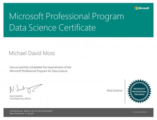 Data Science Certificate