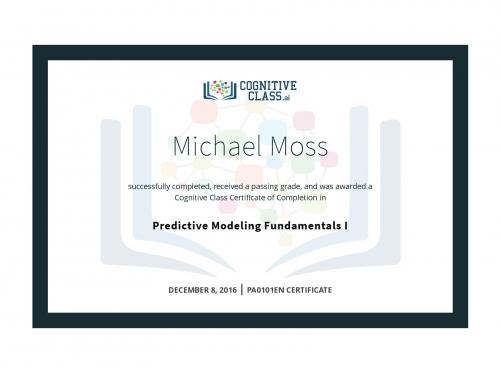 Predictive Modeling Fundamentals 1