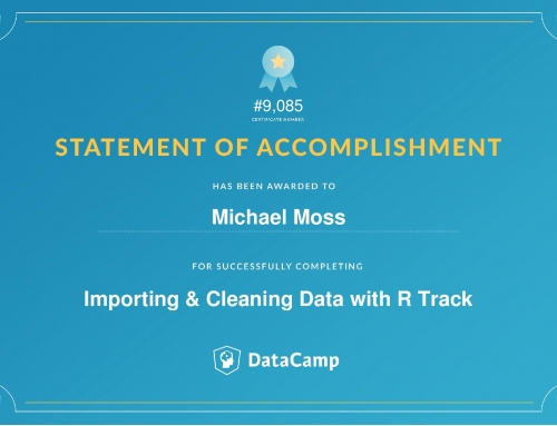 Importing & Cleaning Data with R Track