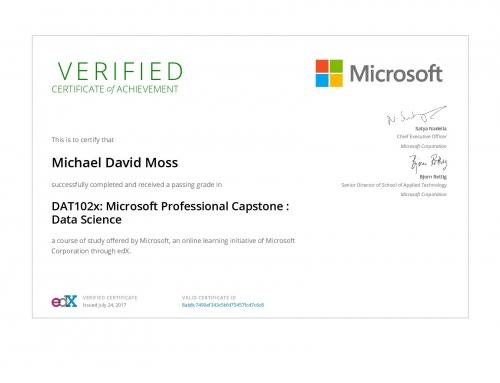 Microsoft Professional Capstone: Data Science