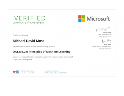 Principles of Machine Learning Certificate